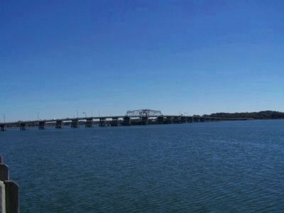 Richard Woods Memorial Bridge, spans the Beaufort River image. Click for full size.