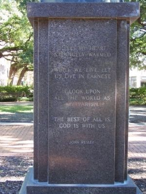 John Wesley Marker, West face image. Click for full size.