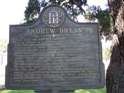 Andrew Bryan Marker image. Click for full size.