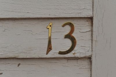 "The old school now has the ""lucky"" number ""13"" for a street address image. Click for full size."