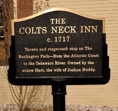 Colts Neck Inn (c. 1717) Marker image. Click for full size.