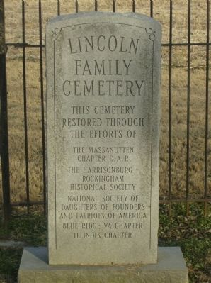 Lincoln's Virginia Ancestors Marker image. Click for full size.