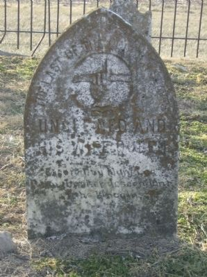 Headstone for last of the Lincoln family slaves image. Click for full size.