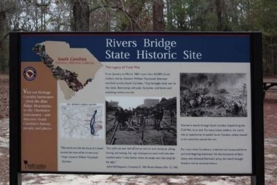 Rivers Bridge State Historic Site Marker image. Click for full size.