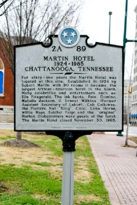 Martin Hotel Marker image. Click for full size.