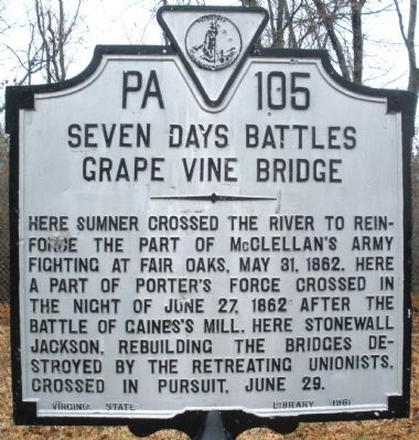 Grape Vine Bridge Marker image. Click for full size.