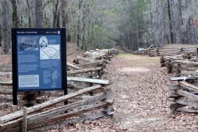 Rivers Bridge Battlefield site, as mentioned on marker image. Click for full size.