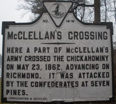 McClellan's Crossing Marker image. Click for full size.