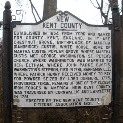 New Kent County Marker image. Click for full size.