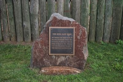 Another Plaque near the Toms River Block House Replica image. Click for full size.