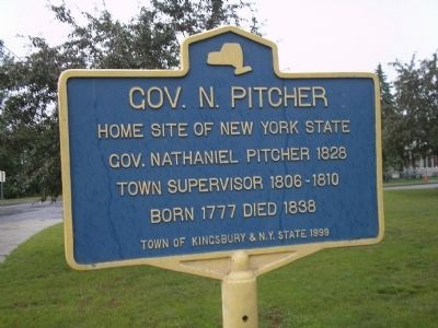 Gov. N. Pitcher Marker image. Click for full size.