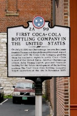 First Coca-Cola Bottling Company In The United States Marker image. Click for full size.