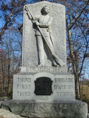 5th Michigan Infantry Monument image. Click for full size.