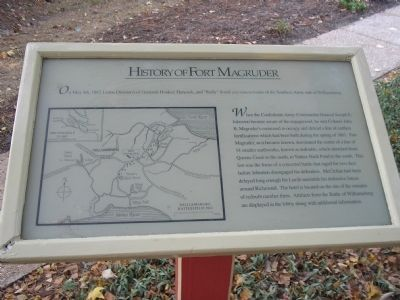 History of Fort Magruder Marker image. Click for full size.