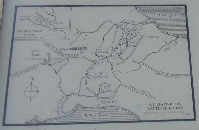 Confederate Fortifications Map from Marker image. Click for full size.