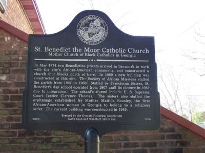 St. Benedict the Moor Catholic Church Marker image. Click for full size.