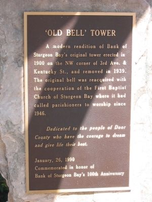 'Old Bell' Tower Marker image. Click for full size.