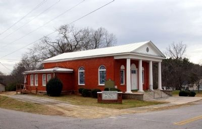 Crawfordville Methodist Church and Marker image. Click for full size.