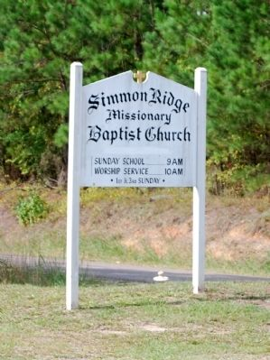 Simmon Ridge Missionary Baptist Church Sign image. Click for full size.