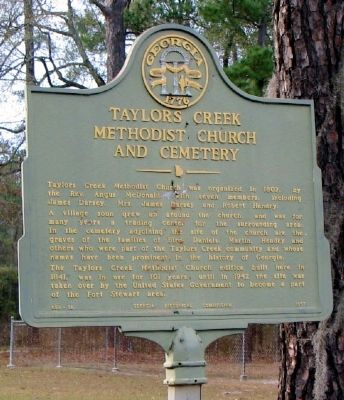Taylors Creek Methodist Church and Cemetery Marker image. Click for full size.