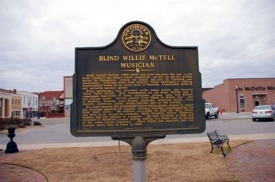 Blind Willie McTell Marker image. Click for full size.