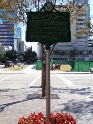 Teco Energy's Tampa Electric Company Marker image. Click for full size.