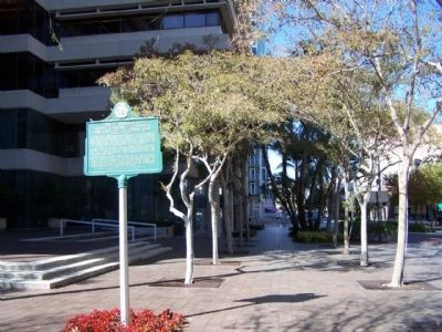 Teco Energy's Tampa Electric Company Marker as seen along N. Franklin St. image. Click for full size.