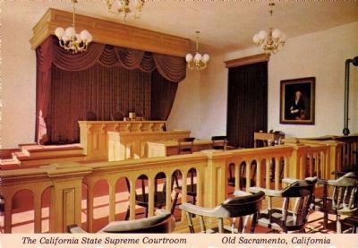 The California State Supreme Courtroom - Old Sacramento image. Click for full size.