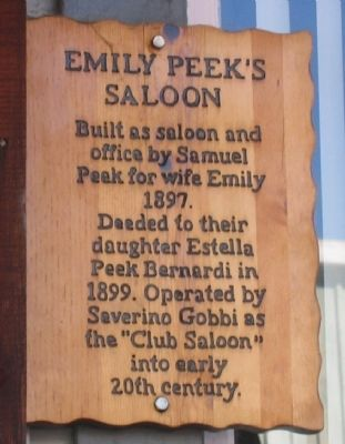 Emily Peek's Saloon Marker image. Click for full size.
