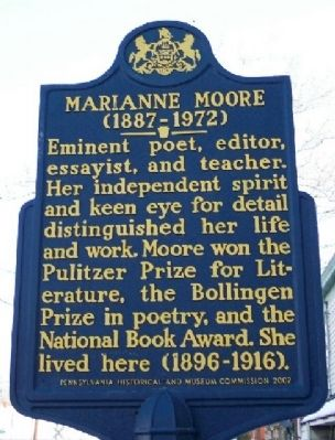 Marianne Moore Marker image. Click for full size.