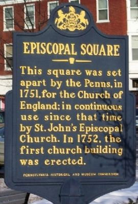 Episcopal Square Marker image. Click for full size.