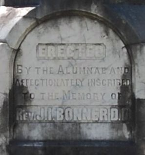 Rev. J.I. Bonner Monument Marker -<br>Northeast Side image. Click for full size.