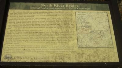 North River Bridge Marker image. Click for full size.