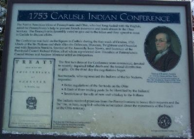 1753 Carlisle Indian Conference Marker image. Click for full size.