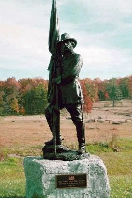 Brigadier General Samuel Wiley Crawford Statue image. Click for full size.
