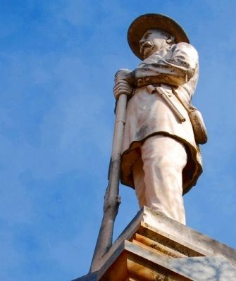 Greenville County Confederate<br>Monument - Statue Detail image. Click for full size.