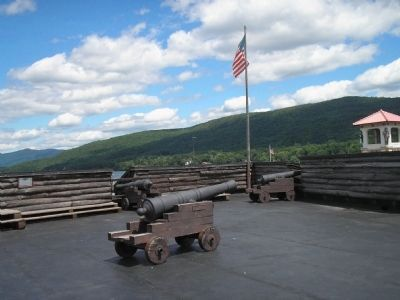Marker in Fort William Henry image. Click for full size.