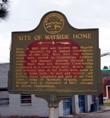 Site of Wayside Home Marker image. Click for full size.