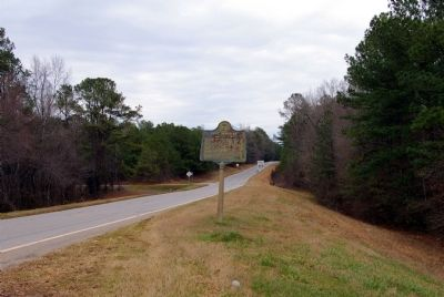 Fort Mathews Marker looking east on US 278. image. Click for full size.