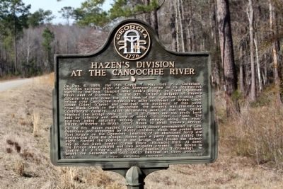 Hazen's Division at the Canoochee River Marker image. Click for full size.