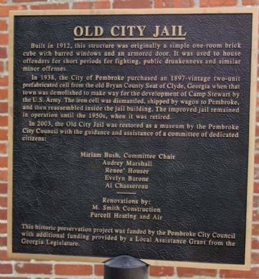 Old City Jail Marker image. Click for full size.