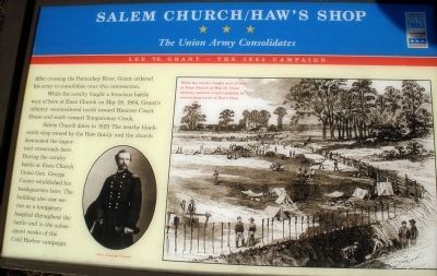 Salem Church/Haw's Shop Marker image. Click for full size.