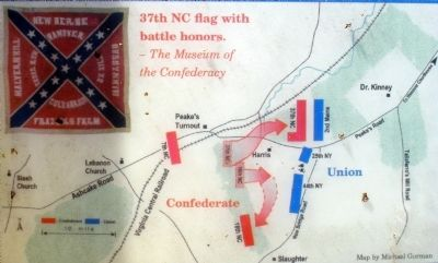 Map of the Battle of Hanover Courthouse. image. Click for full size.