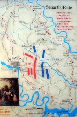Stuart's Ride Around McClellan's Army. image. Click for full size.
