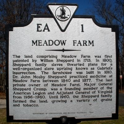 Meadow Farm Marker image. Click for full size.