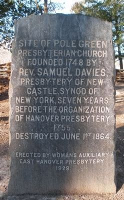 Polegreen Church Site Marker image. Click for full size.