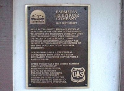 Farmer's Telephone Company Marker image. Click for full size.