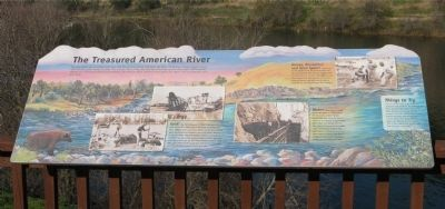 The Treasured American River Marker image. Click for full size.