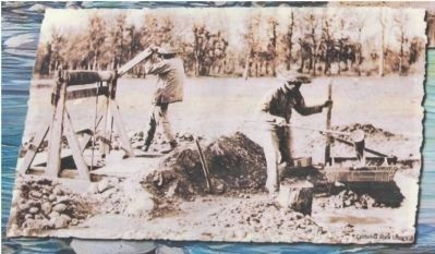 Close-Up of Photo on Marker - Chinese Miners image. Click for full size.