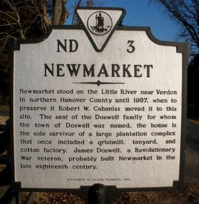 Newmarket Marker image. Click for full size.